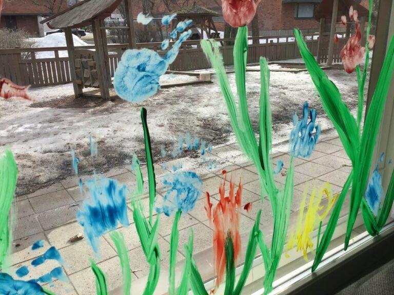 Keväinen tervehdys Pihakoivun päiväkodista